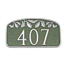 Leaf Address Plaque