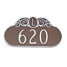 Monogram Address Plaque