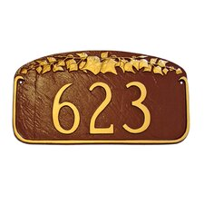 Ivy Leaf Address Plaque