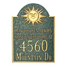 Sunshine Address Plaque