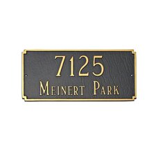 Madison Standard Address Plaque