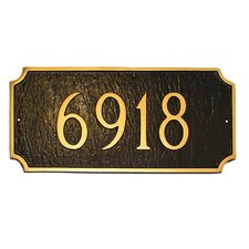 Princeton Standard Address Plaque
