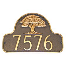 Oak Tree Arch Address Plaque