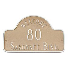 Welcome Arch Standard Address Plaque