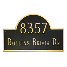 Classic Arch Large Address Plaque