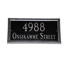 Verona Rectangle Address Plaque