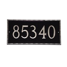 Lincoln Rectangle Address Plaque