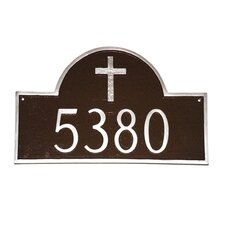 Classic Arch with Rugged Cross Address Plaque