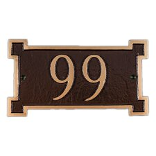 Petite New Yorker Address Plaque