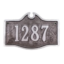 Petite Colonial Address Plaque