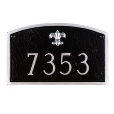 Fleur de Lis Prestige Arch Large Address Plaque