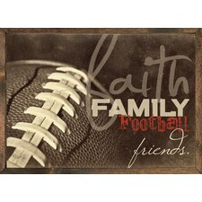 Magnet Art Print Faith Family Friends Framed Wall Art