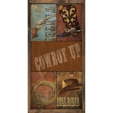Magnet Art Print Cowboy Up Framed Wall Art