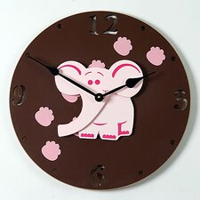 "<strong>Forest Creations</strong> 18"" Elephant Wall Clock"