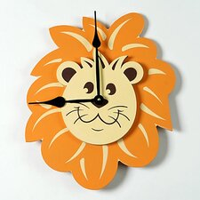 "Lion Head 18"" Wall Clock"