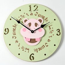 Hippo Head Kid Clock