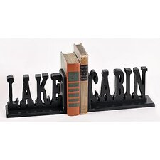 <strong>Forest Creations</strong> Lake Cabin Book Ends (Set of 2)