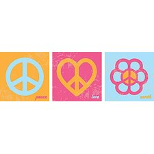 Peace Kids Canvas Art (Set of 3)