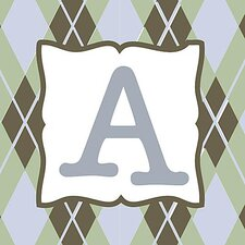 Boy's Argyle Alphabet Canvas