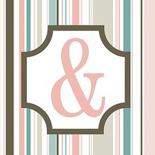 Girl's Stripe Alphabet Canvas