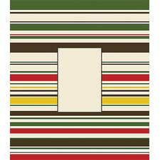 Red, Green Striped Canvas Frame