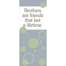 Brothers Are Friends... Kids Canvas Art