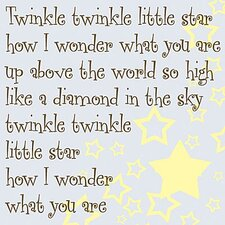 Twinkle Twinkle Little Star Kids Canvas Art