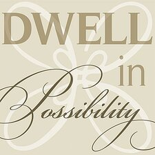 Dwell in Possibility Simplicity Textual Art on Canvas