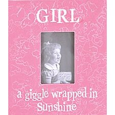 Girl a Giggle Wrapped in Sunshine Picture Frame