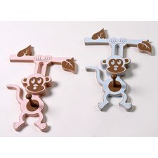 <strong>Forest Creations</strong> Hanging Monkey Peg (Set of 2)