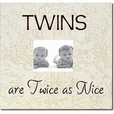 Twins Are Twice As Nice Child Frame