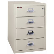 Fireproof 4-Drawer Card, Check and Note File