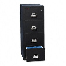 "4-Drawer Vertical File, 20.81"" W X 25"" D, Ul 350 for Fire, Legal"