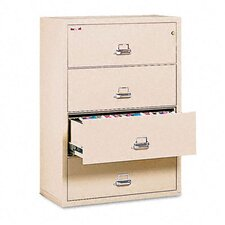 "<strong>Fire King</strong> 4-Drawer Lateral File, 37.5"" W X 22.13"" D, Letter/Legal"