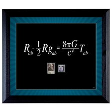 Theory Wall Framed Textual Art with Stamps in Black
