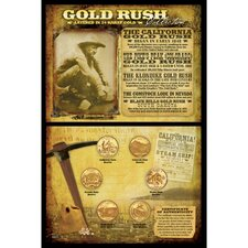 Gold Rush Collection Wall Framed Vintage Advertisement