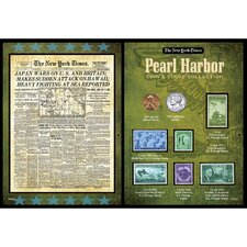 New York Times Pearl Harbor Portfolio Wall Framed Memorabilia