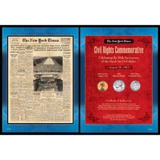 New York Times March For Civil Rights Collection Wall Framed Memorabilia