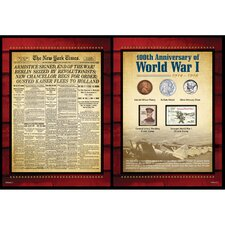 New York Times World War I Coin and Stamp Portfolio Wall Framed Memorabilia