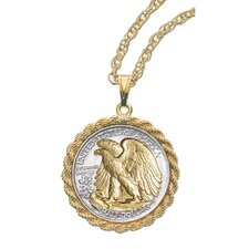 Walking Liberty Half Dollar Rope Coin Pendant