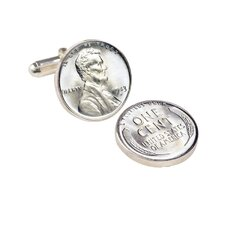 Lincoln Steel Penny Cuff Links