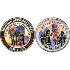 Mission Accomplished Coin - Defenders of Freedom Coin Display Case
