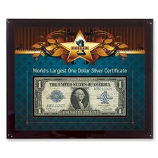 World's Largest Silver Certificate Currency Wall Framed Memorabilia