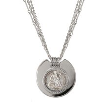 Civil War Triple Strand Coin Pendant