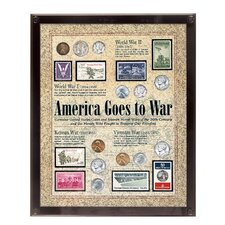America Goes to War Coin Wall Framed Memorabilia