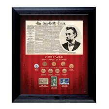 New York Times Civil War 150th Anniversary Coin Wall Framed Memorabilia
