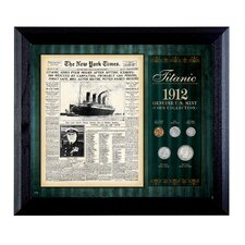 New York Times Titanic 1912 U.S. Mint Coin Wall Frame - 5 Coins
