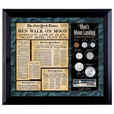 <strong>American Coin Treasures</strong> New York Times Man Lands on the Moon Coin and Stamp Wall Frame