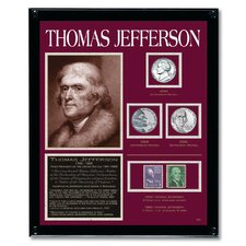 Jefferson Tribute Coin Wall Framed Memorabilia