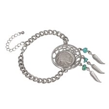 Buffalo Nickel Dream Catcher Charm Bracelet
